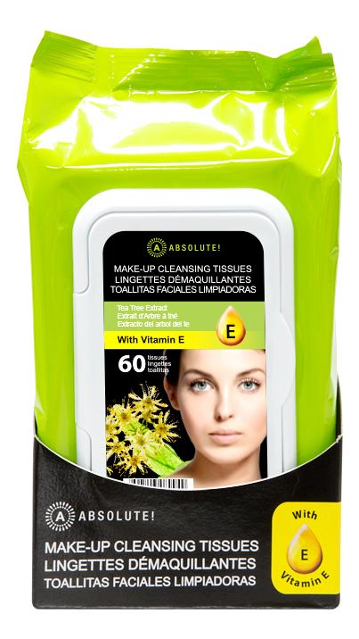 Салфетки для снятия макияжа Make-Up Cleansing Tissues Tea Tree 60шт
