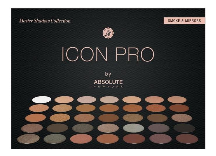 Купить Палетка теней для век Icon Pro Palette: AIP02 Smoke & Mirror, ABSOLUTE New York
