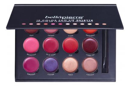 Палетка увлажняющих помад для губ 12 Color Pro Lip Palette 13г (зеркало + кисть)