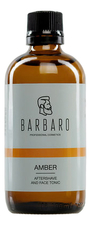 Barbaro Тоник после бритья Amber Aftershave And Face Tonic 100мл