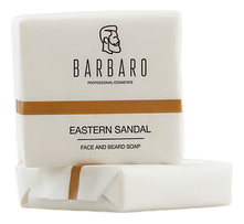 Barbaro Матирующее мыло для лица и бороды Eastern Sandal Face And Beard Soap 90г