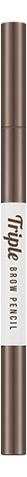 Купить Автоматический карандаш для бровей Triple Brow Pencil 0, 58г: Natural Brown, Missha
