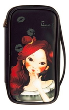 Fascy Косметичка Pungseon Tina PU Beauty Pouch Black