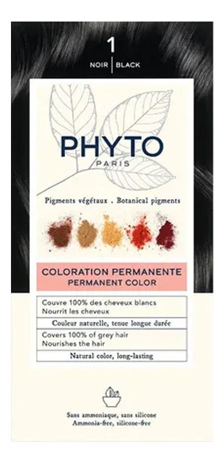 Краска для волос Phyto Color: 1 Черный phyto color 6