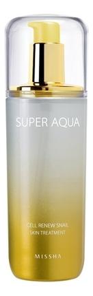Регенерирующий тоник для лица Super Aqua Cell Renew Snail Skin Treatment 130мл