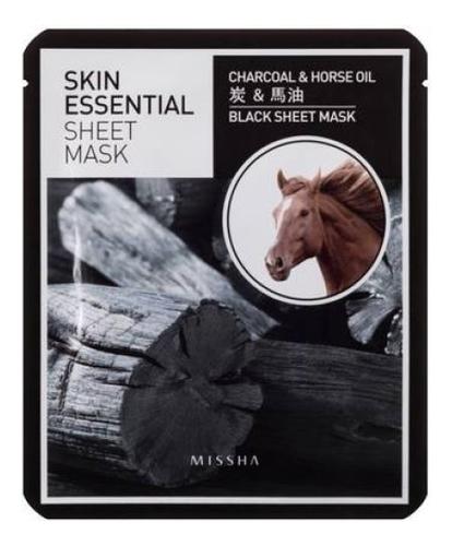 Питательная маска для лица Skin Essential Sheet Mask Charcoal & Horse Oil