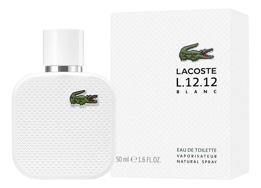 Купить Eau De Lacoste L.12.12 Blanc: туалетная вода 50мл