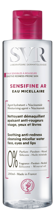 Мицеллярная вода Sensifine AR Eau Micellaire: Мицеллярная вода 200мл мицеллярная вода для снятия макияжа vinoclean eau micellaire demaquillant 200мл