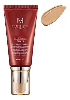 BB крем для лица M Perfect Cover BB Cream SPF42 PA+++ 50мл: 27 Honey Beige bb крем для лица m perfect cover bb cream spf42 pa 50мл 13 bright beige