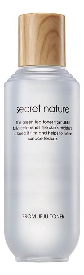 Купить Увлажняющий тонер для лица с экстрактом зеленого чая From Jeju Line Toner 130мл: Тонер 130мл, Secret Nature