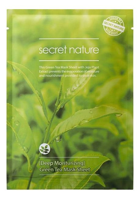 Купить Суперувлажняющая тканевая маска для лица с экстрактом зеленого чая Mask Line Green Tea Sheet 25мл, Secret Nature