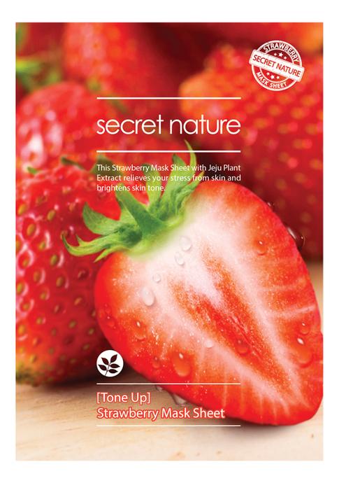 Фото - Тонизирующая тканевая маска для лица с экстрактом клубники Mask Line Strawberry Sheet 25мл освежающая тканевая маска для лица с экстрактом огурца mask line cucumber sheet 25мл