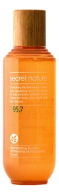 Купить Тонер для лица с экстрактом мандарина и меда 95.7 Mandarine Honey Whitening Moisturizing Toner 130мл, Secret Nature