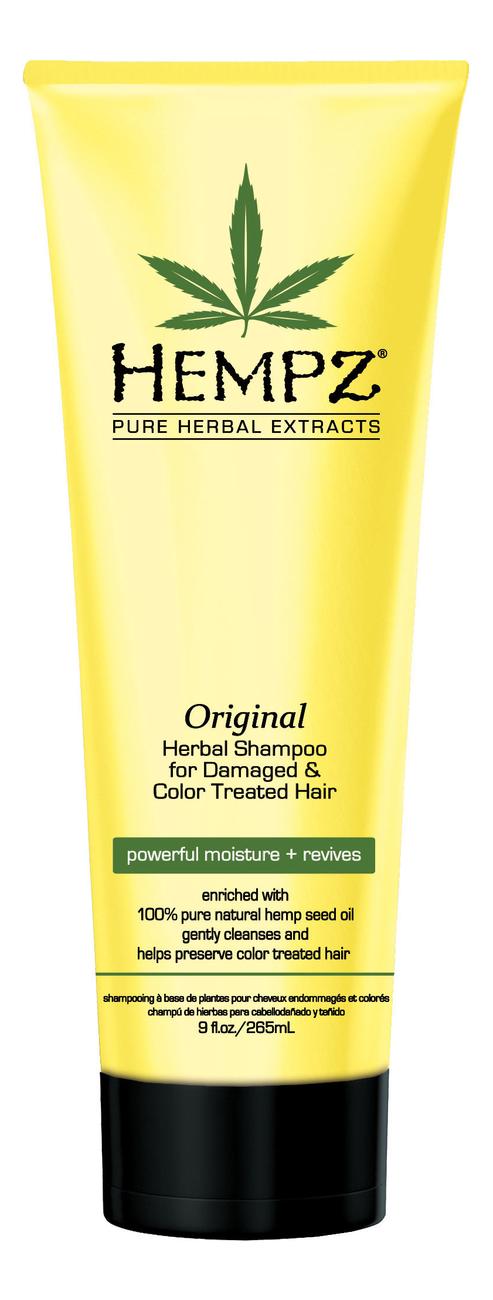 Купить Увлажняющий шампунь для поврежденных волос Original Herbal Shampoo For Damaged & Color Treated Hair: Шампунь 265мл, Увлажняющий шампунь для поврежденных волос Original Herbal Shampoo For Damaged & Color Treated Hair, Hempz
