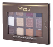 Bellapierre Cosmetics Палетка теней 12 Color Pro Natural Eye Palette 21,3г