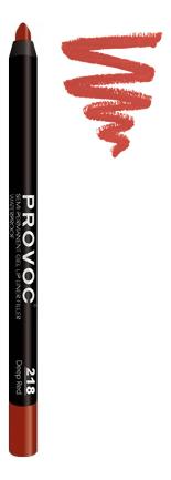 Купить Подводка гелевая в карандаше для губ Gel Lip Liner: 218 Deep Red, Provoc