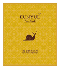 EUNYUL Тканевая маска для лица с муцином улитки Pure Snail Repairing Mask Pack 30мл