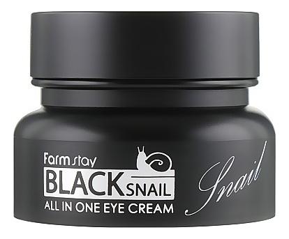 Купить Крем для кожи вокруг глаз с муцином черной улитки Black Snail All In One Eye Cream 50мл, Farm Stay