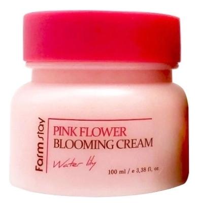Крем для лица с экстрактом водяной лилии Pink Flower Blooming Cream Water Lily 100мл