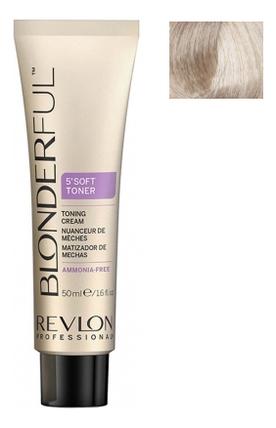 Тонирующий крем для волос без аммиака Blonderful 5'Soft Toner Toning Cream 50мл: No 10.01 осветлитель для волос soft lightener 5 minutes lightening cream 50мл