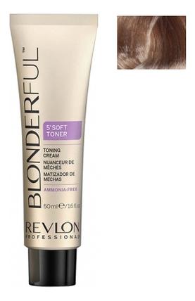 Тонирующий крем для волос без аммиака Blonderful 5'Soft Toner Toning Cream 50мл: No 9.02 осветлитель для волос soft lightener 5 minutes lightening cream 50мл