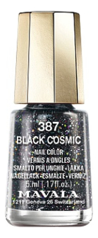 Лак для ногтей Nail Color 5мл: 387 Black Cosmic