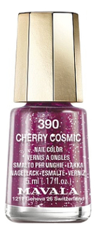 Лак для ногтей Nail Color 5мл: 390 Cherry Cosmic