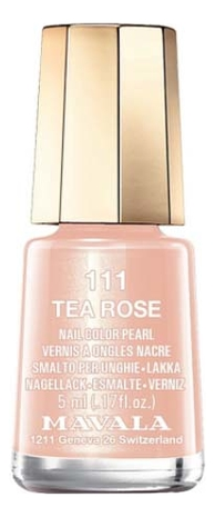 Лак для ногтей Nail Color Pearl 5мл: 111 Tea Rose