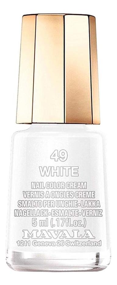 Купить Лак для ногтей Nail Color Cream 5мл: 49 White, MAVALA