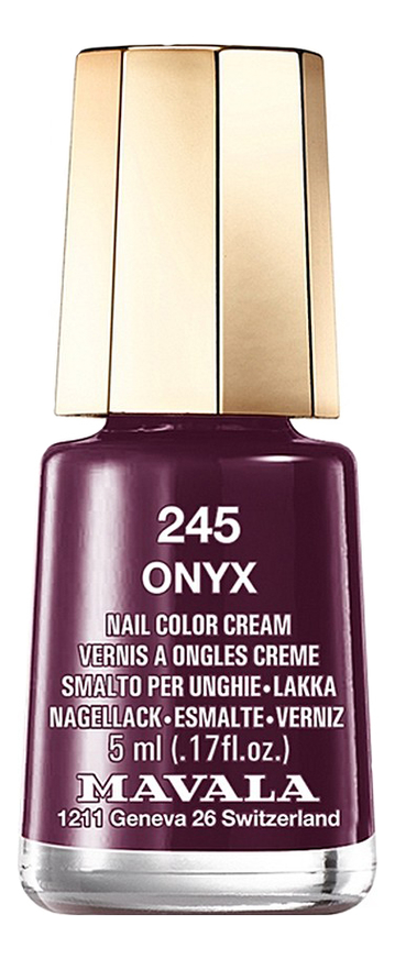 Лак для ногтей Nail Color Cream 5мл: 245 Onyx лак для ногтей nail color cream 5мл 240 jasper
