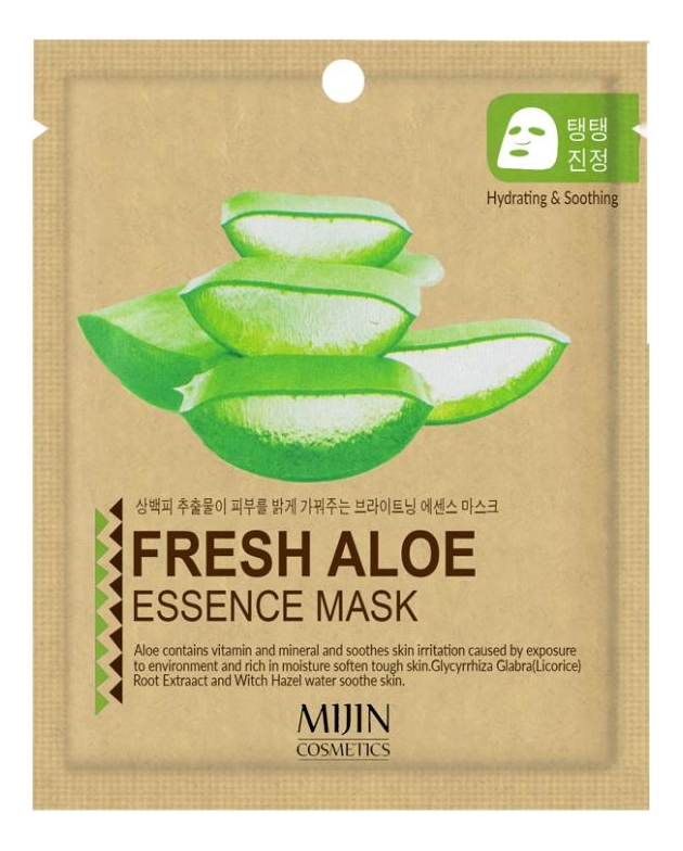 Тканевая маска для лица Алоэ Fresh Aloe Essence Mask 25г essence fresh
