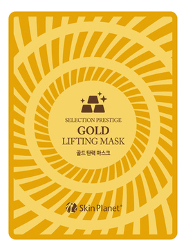Лифтинг маска с экстрактом золота и гиалурона Skin Planet Selection Prestige Gold Lifting Mask 25г