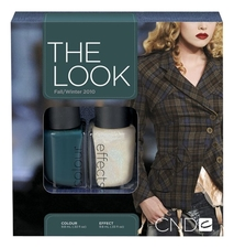 CND Набор лаков для ногтей The Look Fall/Winter 2*9,8мл (567 Urban Oasis + 568 Effects Teal Sparkle)
