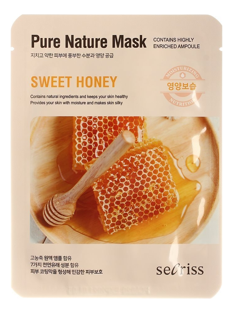Купить Тканевая маска для лица с медом Secriss Pure Nature Mask Sweet Honey 25мл, Anskin