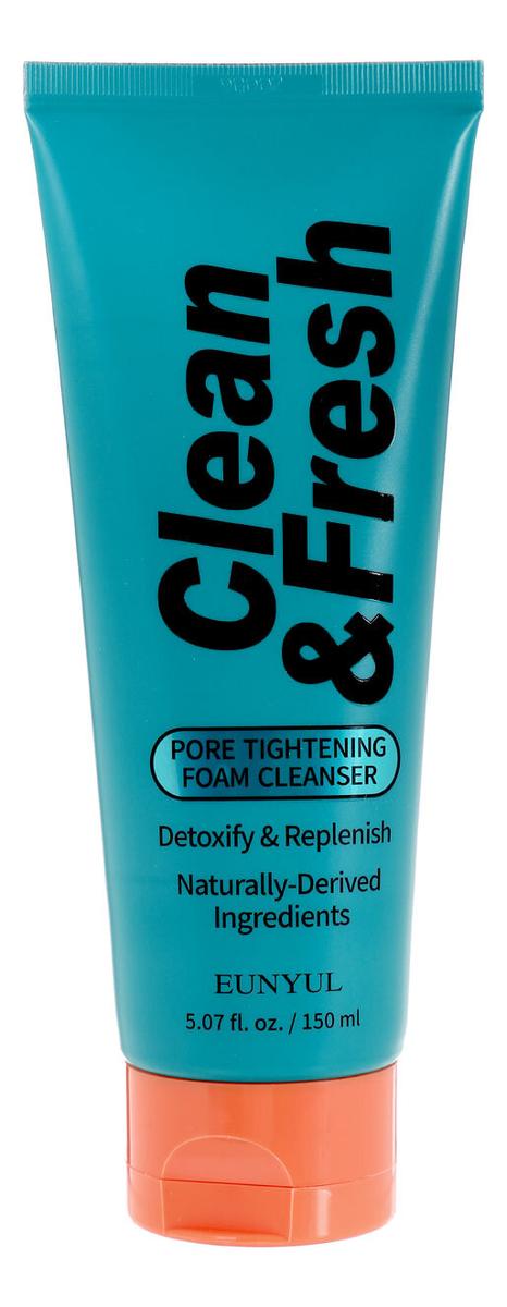 Очищающая пенка для лица сужающая поры Clean & Fresh Pore Tightening Foam Cleansing 150мл недорого