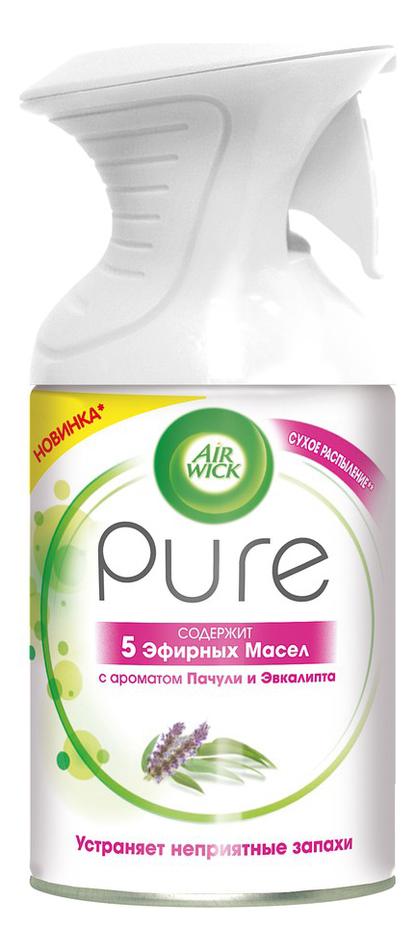 Освежитель воздуха 5 Эфирных масел Пачули и эвкалипт Pure 250мл фото