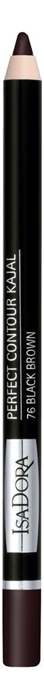 Купить Карандаш для век Perfect Contour Kajal 1, 2г: 76 Black Brown, IsaDora