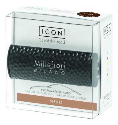 Купить Ароматизатор для автомобиля Тени металла Icon Nero (черный), Millefiori Milano