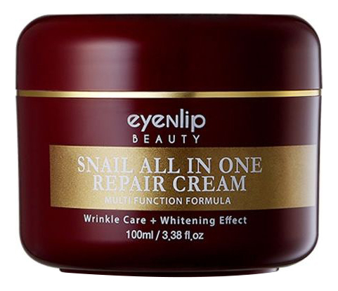 Крем для лица с муцином улитки Snail All In One Repair Cream 100мл: Крем 100мл матовый крем для лица kitchen mattifyng face cream yes i do 100мл