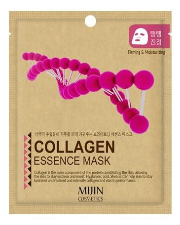 Тканевая маска для лица с коллагеном Collagen Essence Mask 25г успокаивающая увлажняющая гидрогелевая маска для лица с коллагеном aqua collagen hydrogel mask 25г