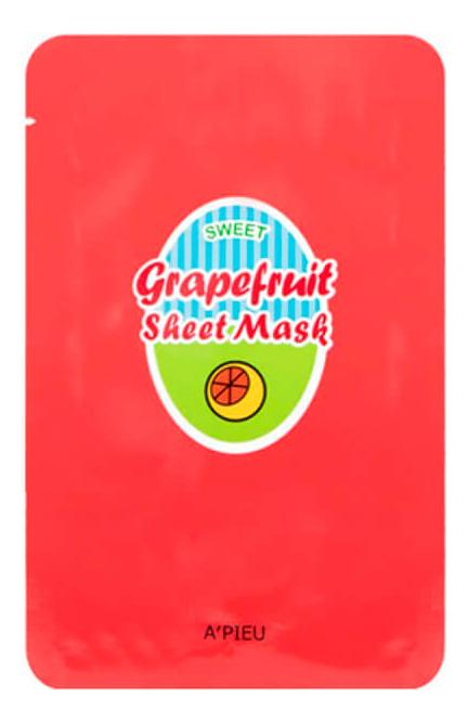 Тканевая маска для лица с экстрактом грейпфрута Grapefruit Sheet Mask 23г lebelage тканевая маска для лица с экстрактом яйца egg natural mask 23г