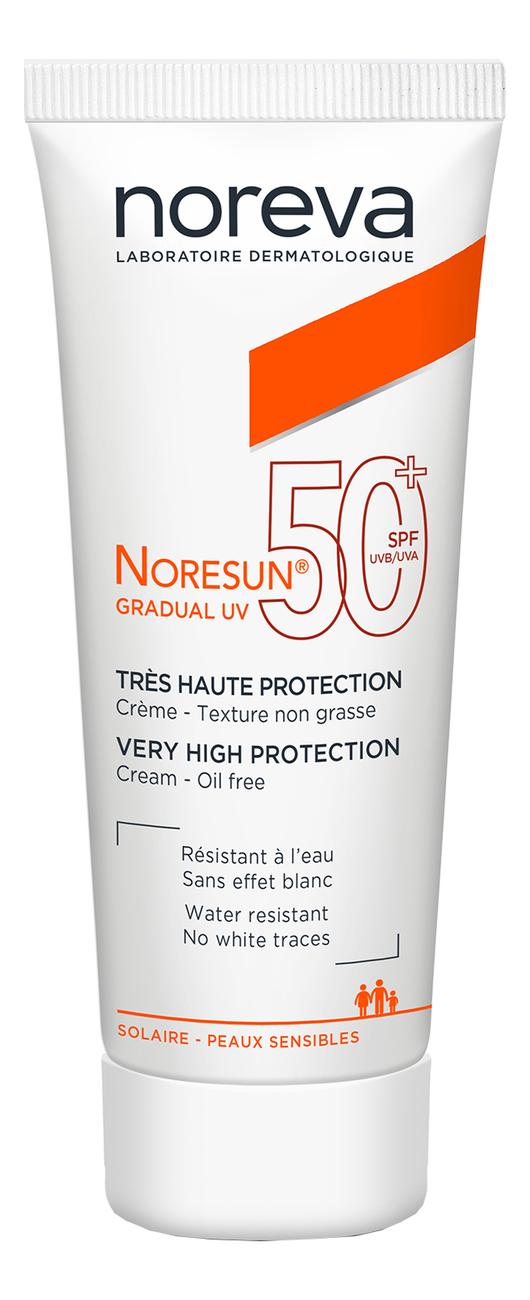 Солнцезащитный крем для лица Noresun Gradual UV SPF50+ 40мл noreva норесан градуал крем с очень высокой степенью защиты spf50 40 мл noreva noresun
