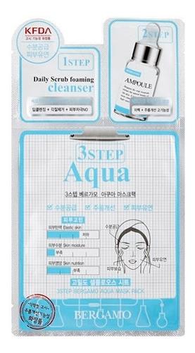 Трехэтапная маска для лица увлажняющая 3Step Aqua Mask Pack 8мл bergamo 3step mask pack aqua трехэтапная маска для лица увлажняющая
