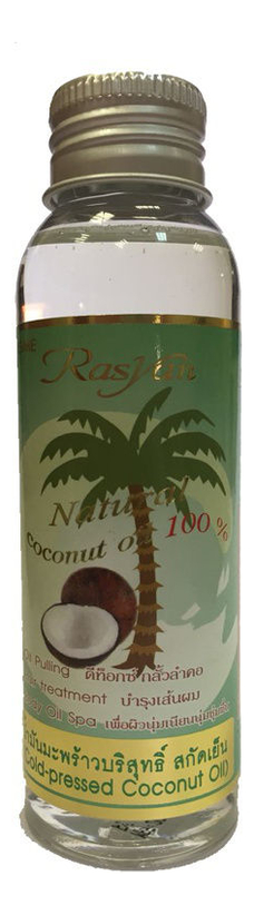 Купить Кокосовое масло для волос и тела Rasyan Coconut Oil 100% 90мл: Масло 90мл, Кокосовое масло для волос и тела Rasyan Natural Coconut Oil 100%, ISME