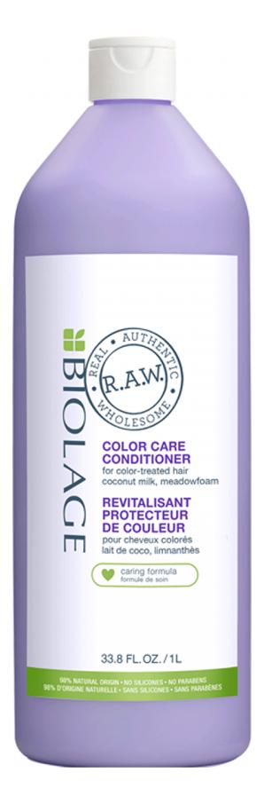 Кондиционер для окрашенных волос Biolage R.A.W. Color Care Conditioner: Кондиционер 1000мл бальзам для окрашенных волос silk touch conditioner for color stabilizer 1000мл