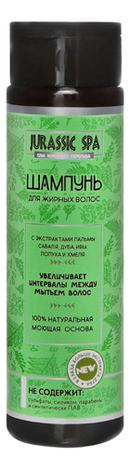 Купить Шампунь для жирных волос с экстрактами пальмы сереноа, дуба, ивы, лопуха и хмеля: Шампунь 270мл, Jurassic SPA