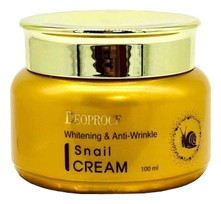 Deoproce Крем для лица с муцином улитки Whitening & Anti-Wrinkle Snail Cream 100мл