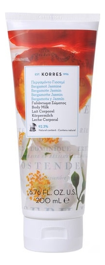 Купить Молочко для тела Bergamote Jasmin Body Milk 200мл (бергамот и жасмин), Korres