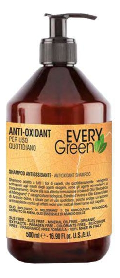Шампунь для волос Every Green Anti-Oxidant Shampoo: 500мл