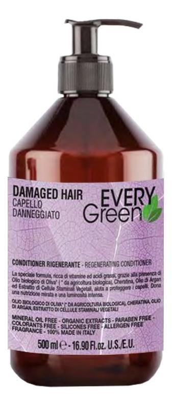 Кондиционер для поврежденных волос Every Green Damaged Hair Regenerating Conditioner: Кондиционер 500мл regenerating azelaic elixir aravia отзывы